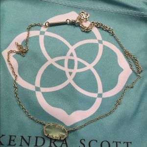 Kendra Scott Light Green Elisa Necklace